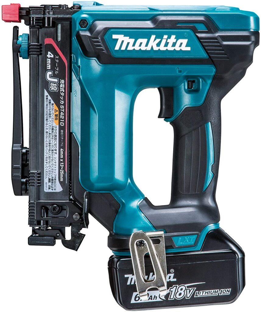 マキタ(makita) 充電式タッカ 18V6Ah バッテリ・充電器・ケース付 ST421DRG